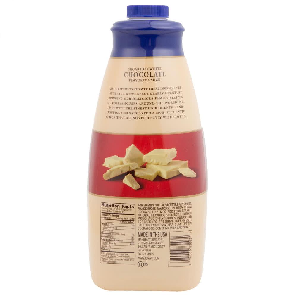 Davinci Chocolate Sauce Nutrition
