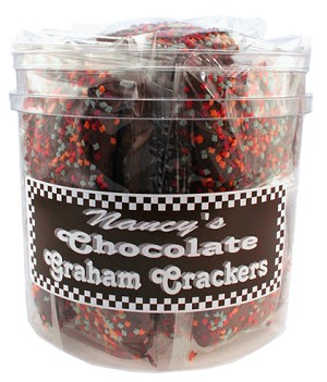 NANCY'S CHOCOLATE GRAHAM CRACKERS 48 PER TUB