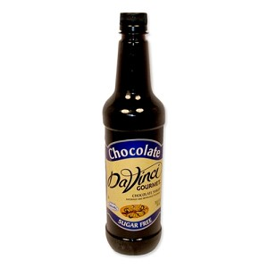 DAVINCI SF CHOCOLATE SYRUP 750ML PLASTIC