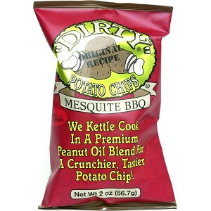 DIRTY CHIPS MESQUITE BBQ POTATO CHIPS 25/2OZ